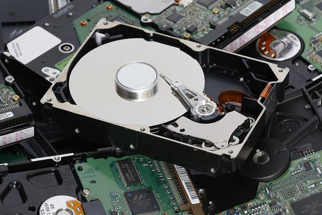 Eine Festplatte aus einem PC