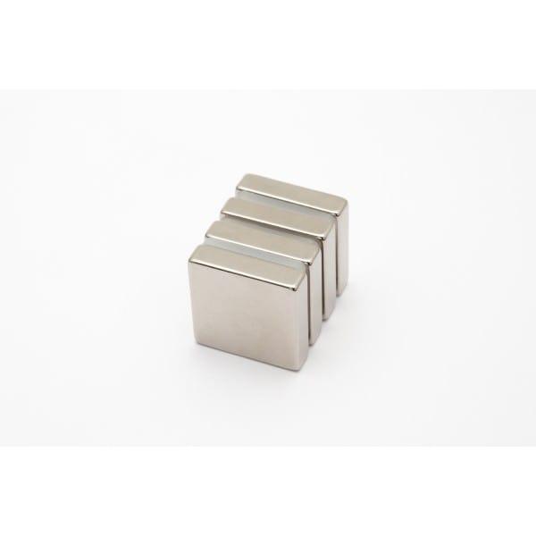 Quadermagnet 20x20x5 mm vernickelt