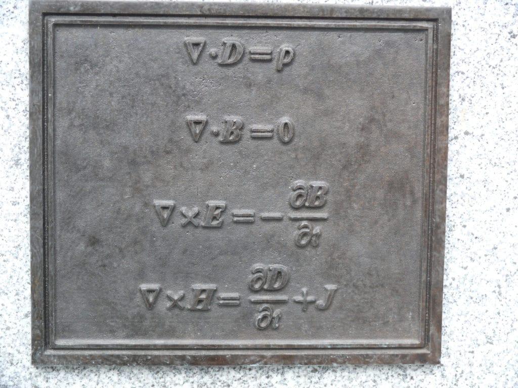 Die Maxwell-Gleichungen von James Clerk Maxwell (1831–1879) beschreiben die Phänomene des Elektromagnetismus