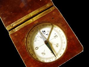 ein schwimmender Magnet ergibt einen Kompass