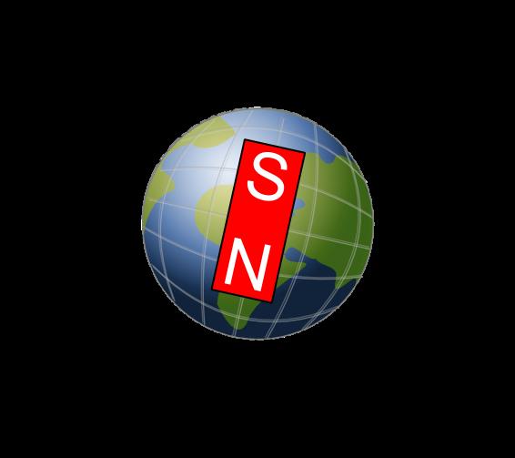 Auch die Erde hat einen magnetischen Nord und Südpol