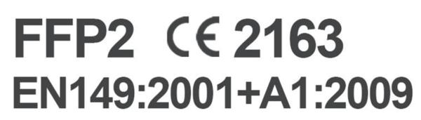 Maske FFP2 CE2163 EN149:2001+A1:2009