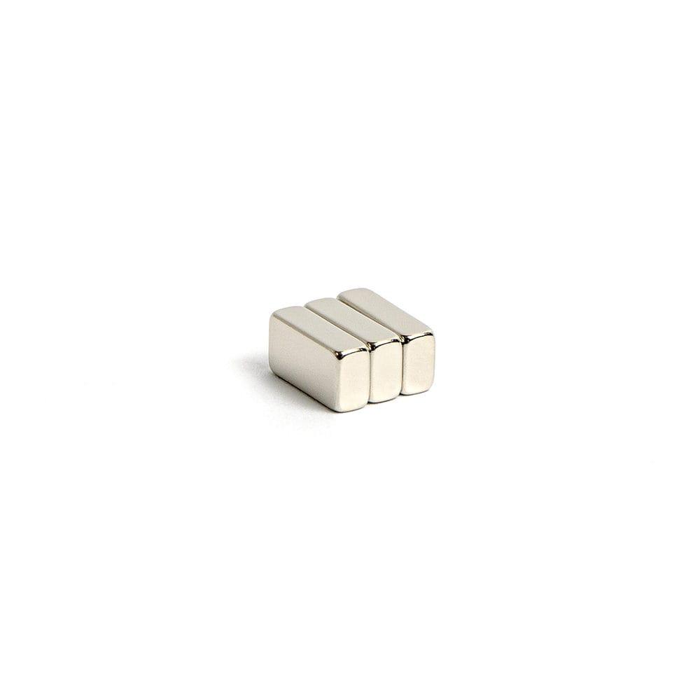 quadermagnet vernickelt